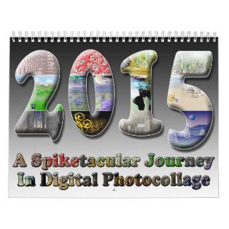 ¡Calendario surrealista del arte de Spiketacular Calendario De Pared