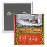 Calendario temprano para el Londres al ferrocarril Pin Cuadrado