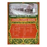Calendario temprano para el Londres al ferrocarril Postales