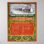 Calendario temprano para el Londres al ferrocarril Póster