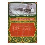 Calendario temprano para el Londres al ferrocarril Tarjeta De Felicitación