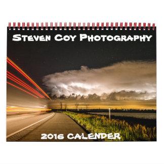 Calendario tímido de la fotografía 2016 de Steven