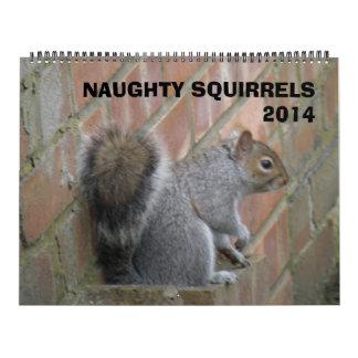 Calendario travieso de las ardillas 2014