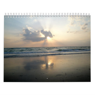 Calendario tropical de la playa de la cabaña