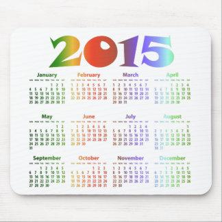 Calendario tropical de los colores 2015 tapete de ratones