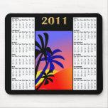 Calendario tropical Mousepad de las palmas 2011 Tapete De Ratones