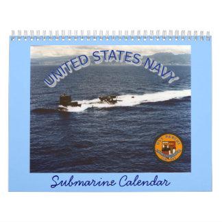 Calendario universal del submarino de la marina de