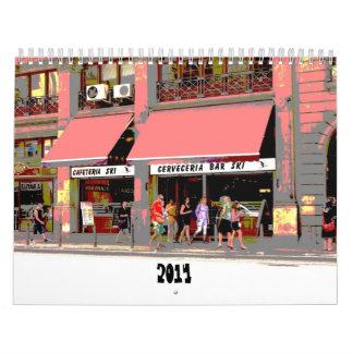 calendario urbano enrrollado 2014 de las escenas