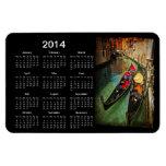 Calendario veneciano de las góndolas 2014 imán