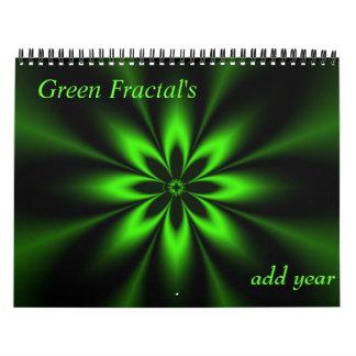 Calendario verde del fractal