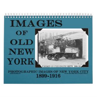 Calendario VIEJO de 2014 de NUEVA YORK imágenes de