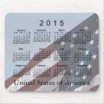 Calendario viejo de la bandera de la gloria 2015 alfombrilla de ratón