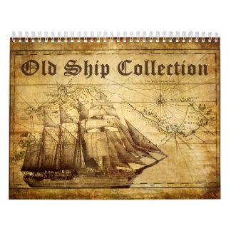 Calendario viejo de la colección de la nave