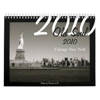 Calendario viejo del alma 2010 - vintage Nueva