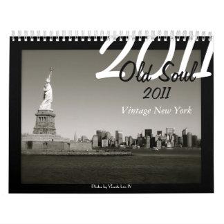 Calendario viejo del alma 2011 - vintage Nueva