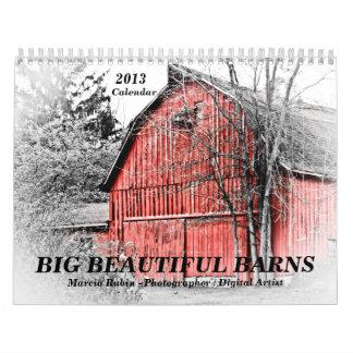 Calendario viejo grande de 2013 graneros