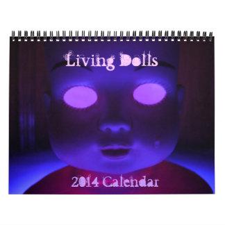 Calendario vivo de 2014 muñecas
