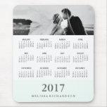 Calendario y foto modernos de la raya 2017 de la mousepad