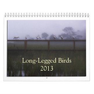 Calendario zanquilargo de los pájaros que vadean
