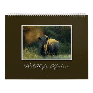 calendarios 2010 del safari de África de la fauna