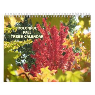Calendarios de los árboles de la caída del