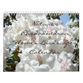Calendarios del paisaje de la flor del rododendro