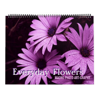Calendarios diario de la macro de las flores 2012)