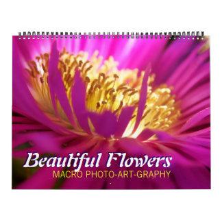 Calendarios hermoso de la macro de las flores 2012
