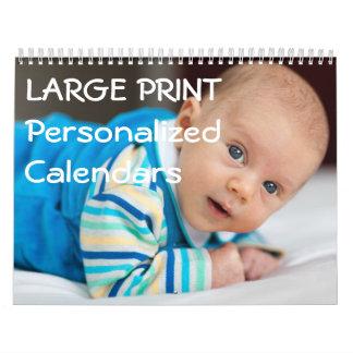 Calendarios personalizados de la ampliación de
