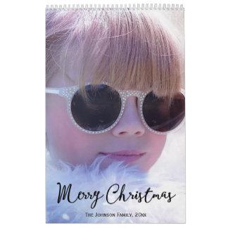 Calendarios personalizados de las Felices Navidad