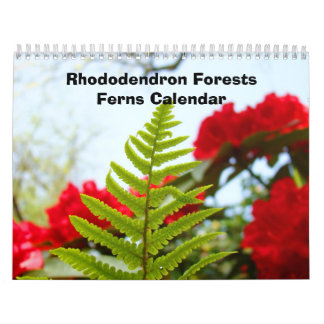Calendars Rhododendron Forest Ferns Calendar gifts