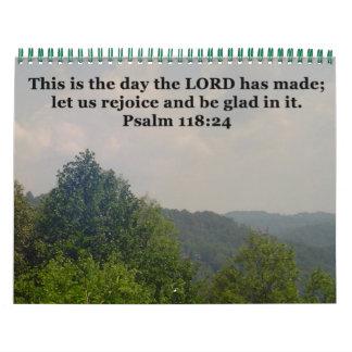 Calendars: Scenery Scripture