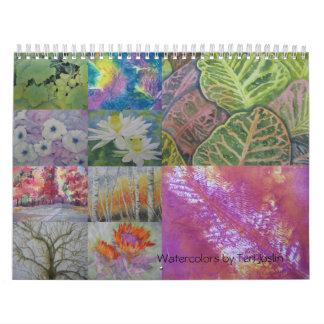 calender4, Watercolors by Teri Joslin - Customized Calendar