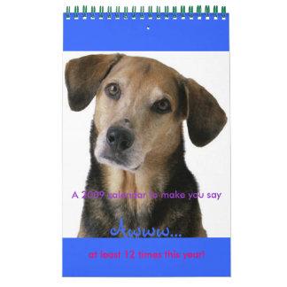 Calender of Cute Dogs- 2009 Calendar