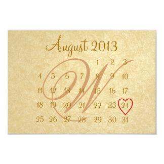"Calender Wedding Invitation 3.5"" X 5"" Invitation Card"