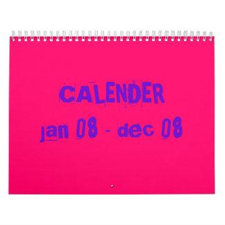 CALENDERjan 08 - dec 08 Calendar