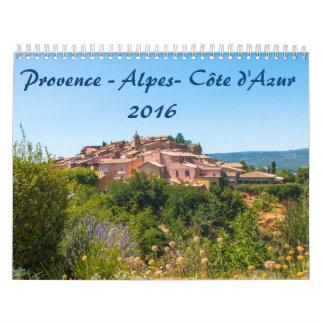 Calendrier 2016 Provence-Alpes-Côte d'Azur Calendar