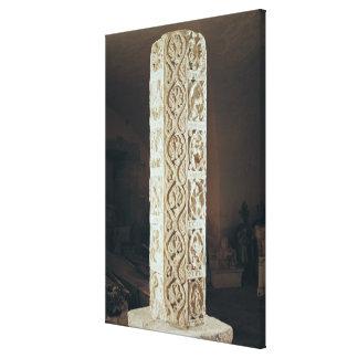 Calendrier de Saison', pillar depicting the Gallery Wrap Canvas