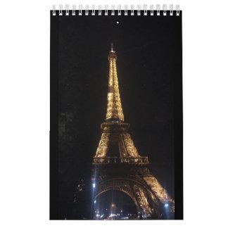 Calendar, Eiffel Tower Paris Calendar