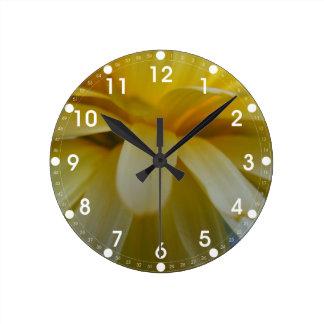 Calendula de la franja del pétalo reloj de pared