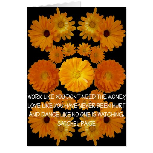Calendula Flower Composite with PAIGE quote as Car Card