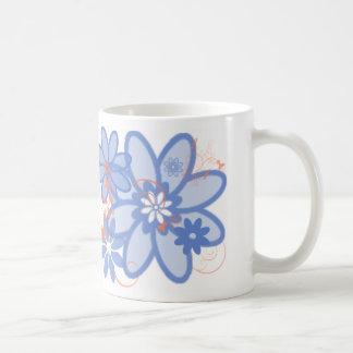 Calendula Orange with the Morning Glory Blues Mugs