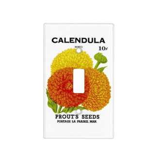 Calendula Vintage Seed Packet Light Switch Covers