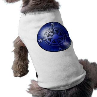 Calentador azul del perro del rosa de compás ropa macota