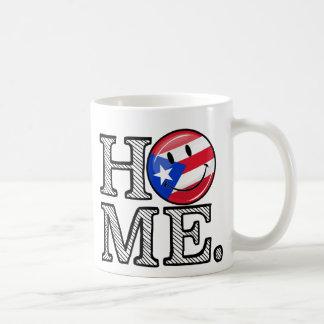 Calentador puertorriqueño de la casa de la bandera taza clásica