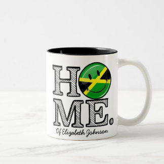Calentador sonriente casero jamaicano de la casa taza de dos tonos