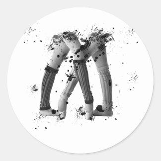 Calentadores de la pierna del Grunge Pegatina Redonda
