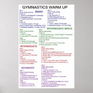 Calentamiento de la gimnasia póster