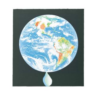 Calentamiento del planeta bloc de papel