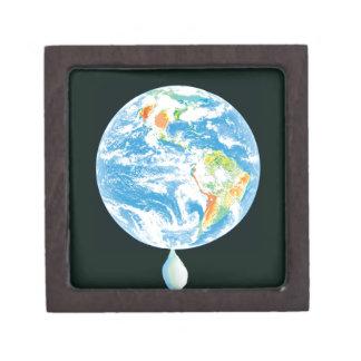 Calentamiento del planeta caja de regalo de calidad